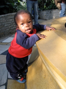 Zach at the fountain