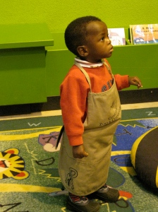 Philip in his zoo apron